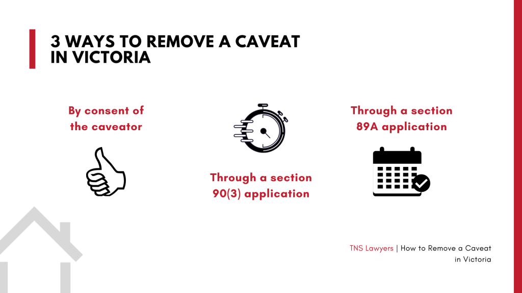 ways to remove a caveat on your property in victoria