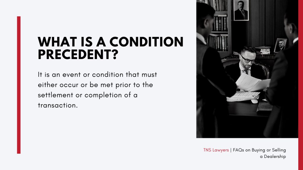 what is a condition precedent