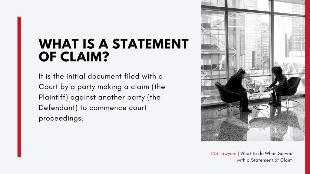 what is a statement of claim
