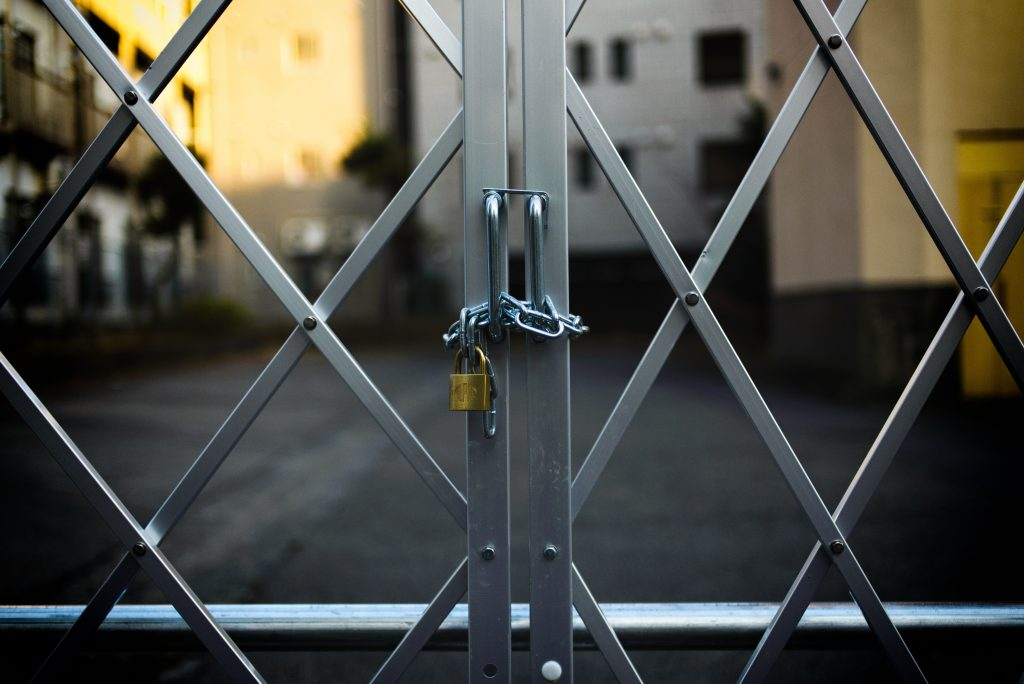 locked metal gate