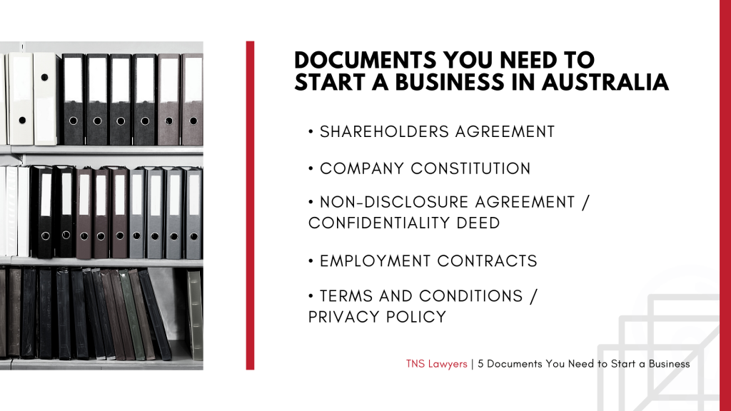 documents you need to set up a business in Australia