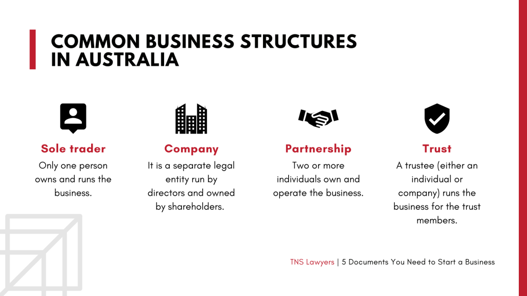common business structures in Australia