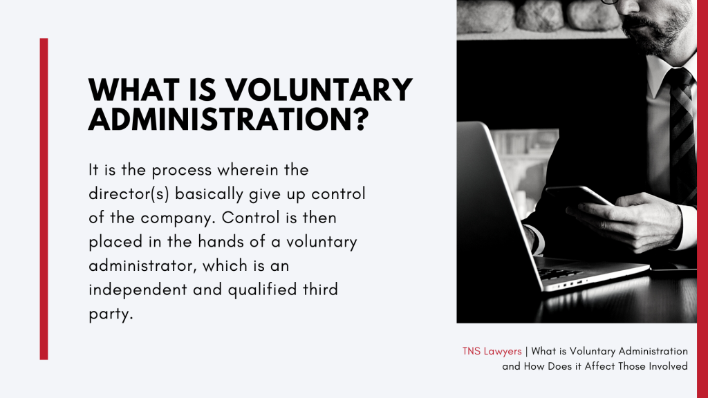 the meaning of voluntary admiistration for insolvent businesses in Australia