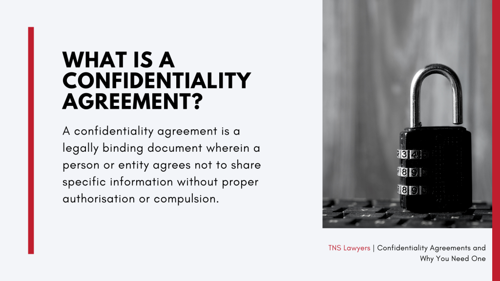 what confidentiality agreements ar