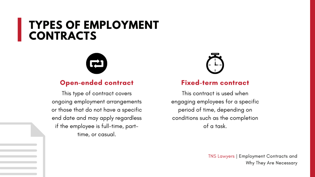 the types of employment contract in Australia