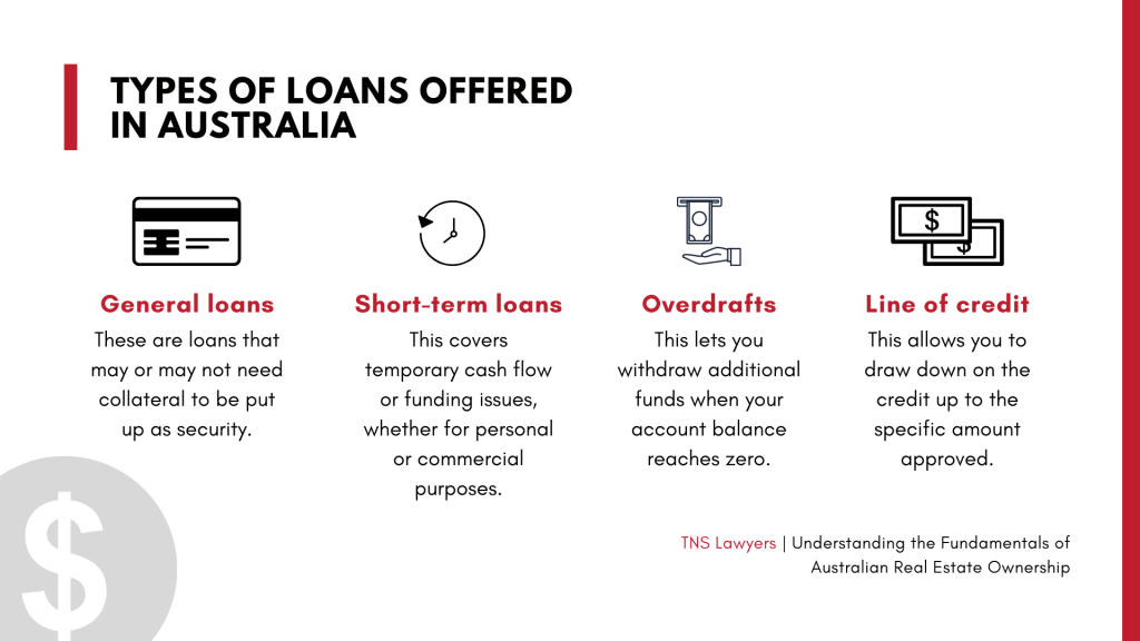the types of loans offered in Australia