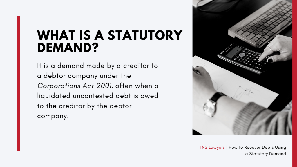 what is a statutory demand