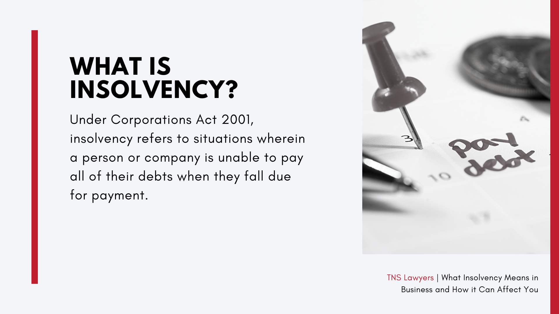what insolvency means in business