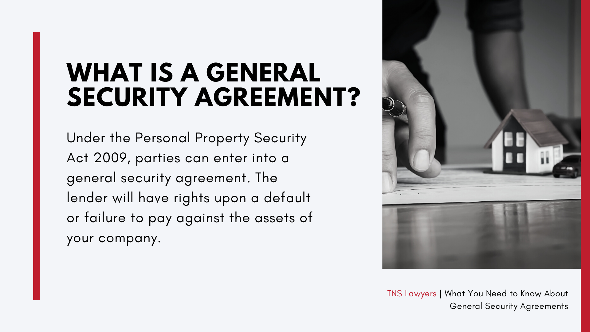 what is a general security agreement