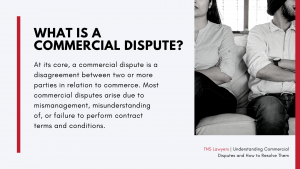 what is a commercial dispute