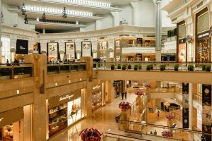 mall with luxury brands