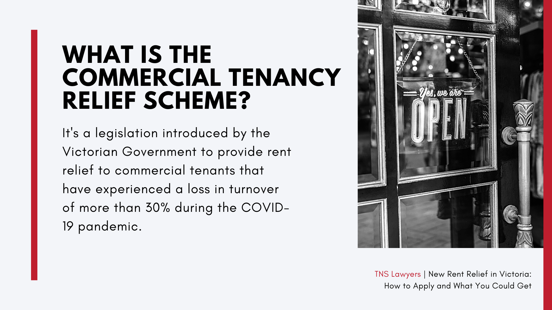 what is the commercial tenancy relief scheme in Victoria